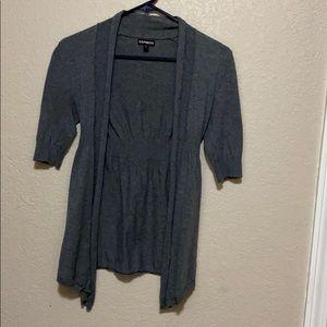 Express gray cardigan
